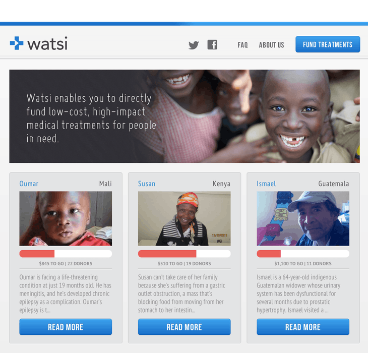 Watsi | Fund medical treatments for people around the world