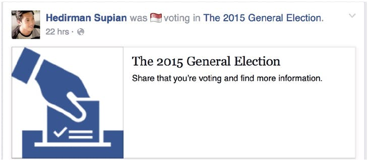 Facebook election 2