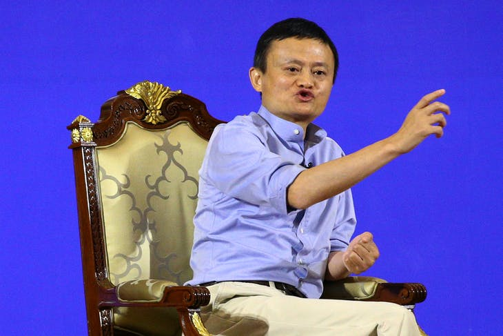Founder and Executive Chairman of Alibaba Group Jack Ma gestures during the Conversation on Entrepreneurship and Inclusive Globalization at the Foreign Ministry in Bangkok, Thailand, October 11, 2016. REUTERS/Athit Perawongmetha - RTSRPCA