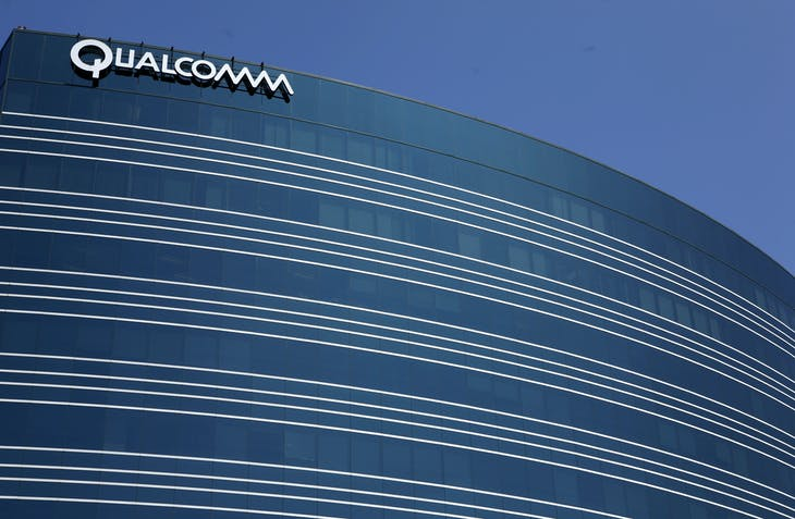 A view of one of Qualcomm's many buildings in San Diego, California, July 22, 2008. Investors in Qualcomm, already expecting strong quarterly results July 23 for the wireless chip and technology supplier, will likely be focusing on its current quarter forecasts and its court case with Nokia in Delaware on the same day.     REUTERS/Mike Blake      (UNITED STATES) - RTR20FJC