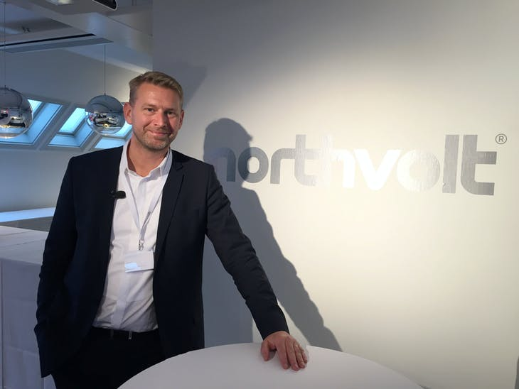 Northvolt CEO Peter Carlsson poses for a picture at the company's offices in Stockholm, Sweden, March 7, 2017. REUTERS/Niklas Pollard - RTS11TYT