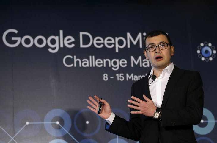 Demis Hassabis, the CEO of DeepMind Technologies and developer of AlphaGO, speaks during a news conference ahead of matches against Google's artificial intelligence program AlphaGo, in Seoul, South Korea, March 8, 2016.  REUTERS/Kim Hong-Ji - RTS9QRR