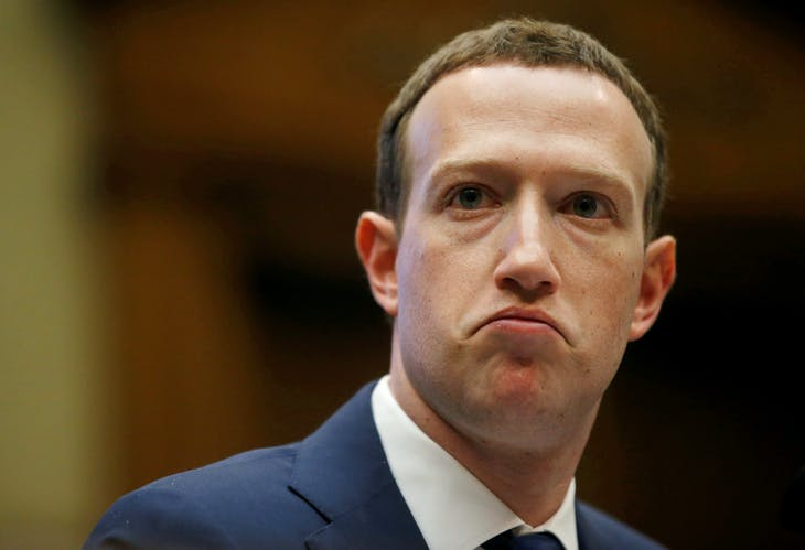 Facebook CEO Mark Zuckerberg testifies before a House Energy and Commerce Committee hearing regarding the company's use and protection of user data on Capitol Hill in Washington, U.S., April 11, 2018. REUTERS/Leah Millis - RC1832404AA0
