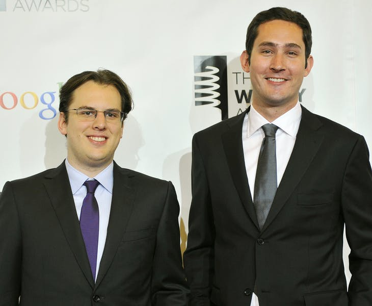 Instagram 創辦人 Mike Krieger 和 Kevin Systrom 。Photo Credit:Reuters