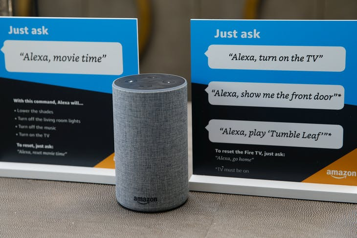 Amazon 的智慧語音機器人 Alexa 。Photo Credit:Reuters