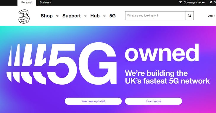 """<a href=""""http://www.three.co.uk/5g#LearnMore5G"""" target=""""_blank"""">three.co.uk</a>"""